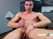 Bruce Larsen on Flirt4Free - Big Dicked Stud Spreads His Ass and Gets Off