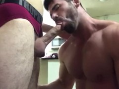 Billy Santoro meets a hot GIANT raw cock after work