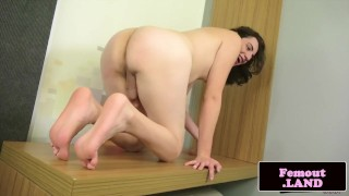 Cute femboy wanking and spreading her ass