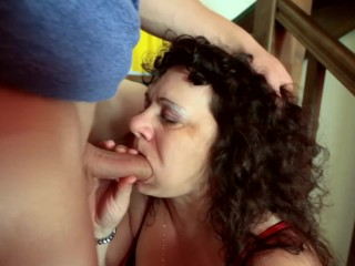 The stepson fucks his stepmother hard