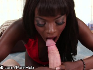 Fine Ass Ebony Babe Ana Foxxx Eats White Dick Like No Other!