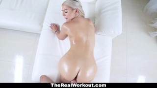 TeamSkeet - Fitness Chick With Huge Ass Does Some Sensual Healing  big ass rharri round blonde cumshot fitness therealworkout gym missionary teamskeet hardcore exercise workout pawg cowgirl bigcock doggystyle