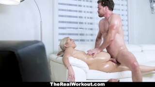 TeamSkeet - Fitness Chick With Huge Ass Does Some Sensual Healing Blonde hj