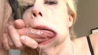 More Balls Deep Throat Fucking after cum, throat pie compilation