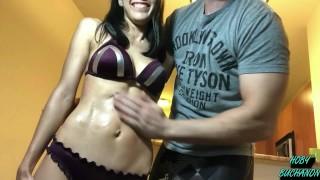 Petite Bikini Teen Destroyed Rough Face Fuck & Throated Hard