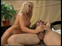 Carol Cox Tests Out A Young Guy On The Casting Couch