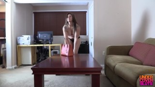 My  step stripper part blackmailing mom step milf
