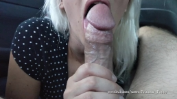 Cheating slut goes crazy on big cock in the car - Princess Poppy