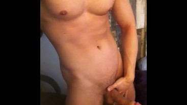 Showing off a hunk body