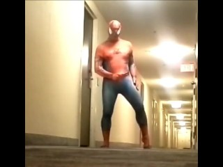 spider cums in hotel hall