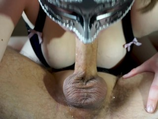 Young British UK MILF Sloppy No Hands 69 Blowjob Big Load