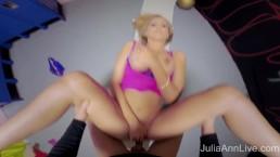 Busty Blonde MILF Julia Ann Fucked In the Gym!