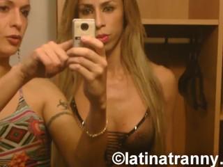 Nikki Montero with Hilda Brasil and Bruninha Almeida BTS