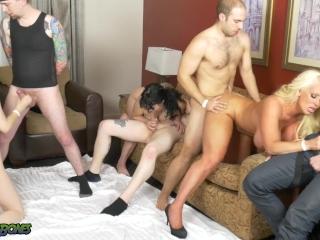 Amatuer Hotel Room Orgy w MILF Alura Jenson