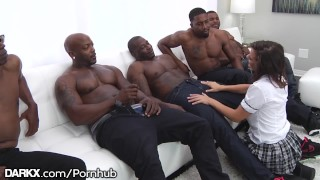 Gangbang hot puts girl rough in keisha grey school bbc work interracial cocks