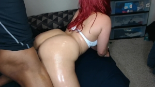Booty cum fast make's red guy big back head from perfect shots ass booty big