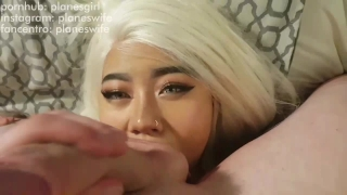 Slut fucked asian gets hard thick thick blonde