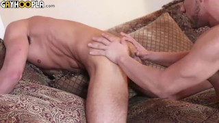 Teen's Big White Cock Cums Twice Getting Fucked By Hot Latino Teen