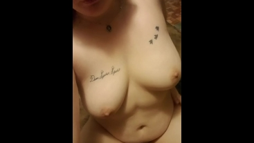 Nerdy whore has a full bladder this morning
