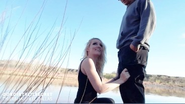 Horny Teen Swallows Cum In Public - OurDirtyLilSecret