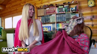 Preview 2 of BANGBROS - Busty Blonde Lexi Lowe Runs Into The Big Bad Wolf In The Woods!