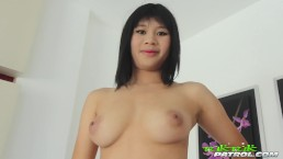 Shaved Thai pussy oozes with cum by the end of this fuck