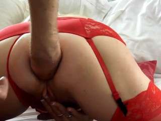 Wife anal sex and blowjob