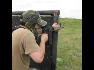 Two Gun Too Much FUN! Sig PM400 Pistol & SB15 Video Glock 17 9mm Shooting