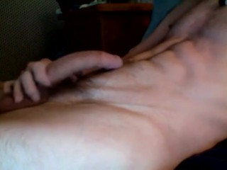 Hot twink with a HUGE COCK wanks hard - Solo JO