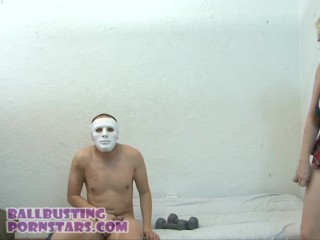 CFNM Dick Flasher Cumshot and Ballbusting with College Coed - Alice Frost