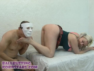 CFNM Dick Flasher Cumshot and Ballbusting with College Coed Alice Frost