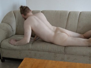 Naked on the couch