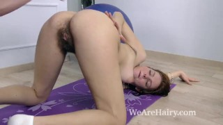 Candy Red has hot sex after a sexy workout