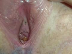 Closeup of girlfriends lovely pee hole