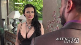 Aletta Ocean cheating her husband with his client - alettAOceanLive