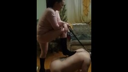 My girl ballbusting and trampling