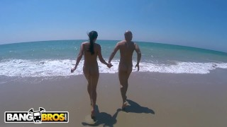 BANGBROS Patty Michova & Christian Clay Beach Sex In Full View Of Public!