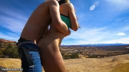 Cum all over my ass - ThePerfectCpl fucks in the desert Roadtrip episode 2