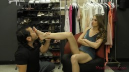 Bossy Bitch Jillian Takes Over the Clothing Store - Femdom