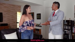 Karups - Curvy Teen April Dawn Fucks Dads Best Friend