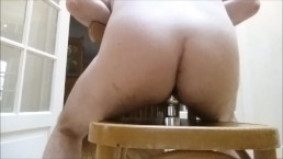 Straight hole after ass fuck sucks and shoots huge butt plug without hands