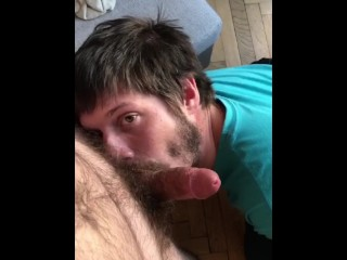 Young Buck in Europe playing with a hairy dick