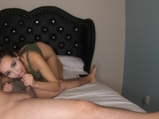 Giving my BF a sexy Blowjob with cumshot before Bed – Lexi Aaane