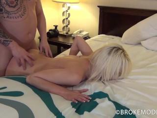 18 year old Stefanie Joy's first hardcore video with cum dripping creampie