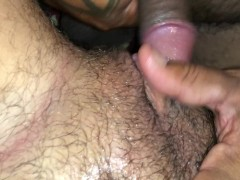 Rubbing that Ftm dicklit with the tip of my dick