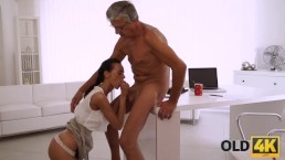 OLD4K. She had long dreamed of a cock of her boss