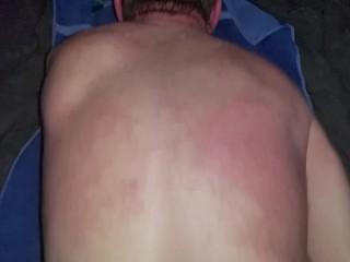 Using a slutty btm bareback