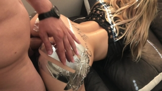 ANAL GAPE CHALLENGE ` Sis loves Huge Cock in ASS Blonde point