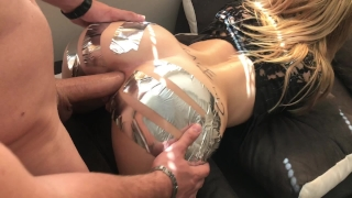 ANAL GAPE CHALLENGE ` Sis loves Huge Cock in ASS Tits plowed
