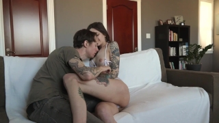 Tattooed Couple Creampie Sex with Owen Gray